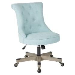 Office Star(TM) Hannah Tufted Office Chair, Mint/Gray