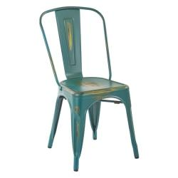 Office Star(TM) Bristow Armless Chairs, Antique Turquoise, Set Of 2 Chairs