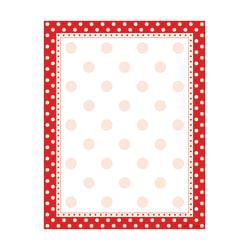 Barker Creek Computer Paper, 8 1/2in. x 11in., Red-And-White Dot, Pack Of 50 Sheets