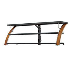Whalen(R) Furniture Payton TV Console For Flat-Panel TVs Up To 70in., 22in.H x 65in.W x 21in.D, Tuscan Brown