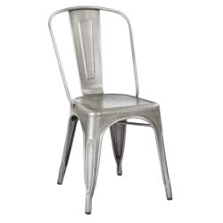 Office Star(TM) Bristow Armless Chair, Brushed Silver, Set Of 2 Chairs