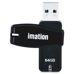 Imation(TM) Swivel USB Flash Drive, 64GB