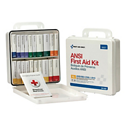 First Aid Only 50-Person First Aid Kit, 10in.H x 10in.W x 3in.D, White