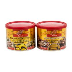 Superior Nut Nuts, Fancy Chocolate-Covered Cashews And Almonds, 10.5 Oz, Box Of 2