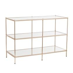 Southern Enterprises Knox Console Table, Rectangle, Clear/Metallic Gold
