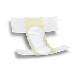 FitRight Basic Disposable Briefs, X-Large, White/Yellow, 25 Briefs Per Bag, Case Of 4 Bags
