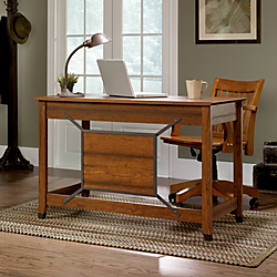 Sauder(R) Carson Forge Collection Computer Desk, 30 1/3in.H x 46 2/3in.W x 23 1/2in.D, Washington Cherry