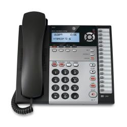 ATT 1040 4-Line Corded Expandable Speakerphone, Charcoal