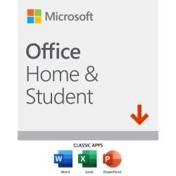 Office Home and Student 2019, Download Version, For 1 Device, For PC/Mac, Download Version