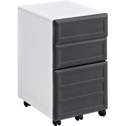 Ameriwood(TM) Home Pursuit Fiberboard Legal-/Letter-Size Mobile File Cabinet, 3 Drawers, 26 1/2in.H x 15in.W x 17in.D, Gray/White