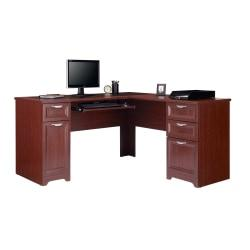 Realspace(R) Magellan Collection L-Shaped Desk, Classic Cherry