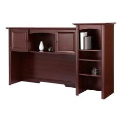 Realspace Broadstreet Hutch With Doors, Cherry