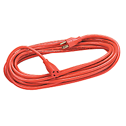 Fellowes Indoor/Outdoor Extension Cord, 25ft., Orange
