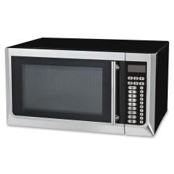 Avanti 1,000-watt Microwave - Single - 11.97 gal Capacity - Microwave - 10 Power Levels - 1000 W Microwave Power - 120 V AC - Glass - Countertop - Black, Stainl