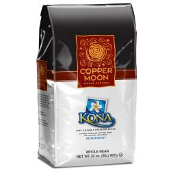 Copper Moon Coffee Whole Bean Coffee, Kona, 2 Lb Per Bag, Case Of 4 Bags