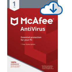 McAfee(TM) AntiVirus, For 1 Device, For PC, 1-Year Subscription, Download Version