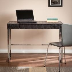 Southern Enterprises Vivienne Reptile Desk, Black/Chrome