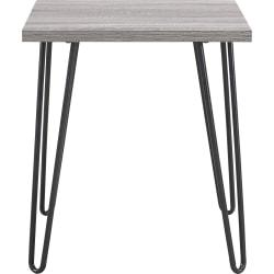 Ameriwood(TM) Home Owen Retro End Table, Square, Sonoma Oak/Gunmetal Gray