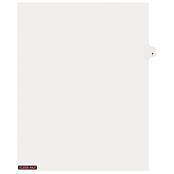 UPC 016622811177 Product Image For Kleer Fax Inc KLF81117 Index Dividers  Number 7 Side Tab 505 Photo Gallery