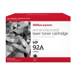 Office Depot(R) Brand 92A (HP 92A) Remanufactured Black Toner Cartridge