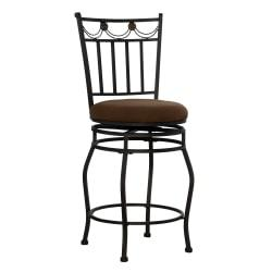 Linon Home Decor Products Monaco Counter Stools, 24in.H, Brown