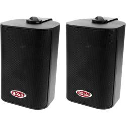 BOSS AUDIO MR4.3B Marine Enclosed System 4in. 3-way 200-watt Enclosed System Speakers