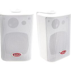 BOSS AUDIO MR4.3W Marine Enclosed System 4in. 3-way 200-watt Enclosed System Speakers