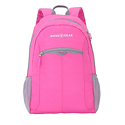 SWISSGEAR (R) Student Backpack For 15in. Laptops, Black/Pink