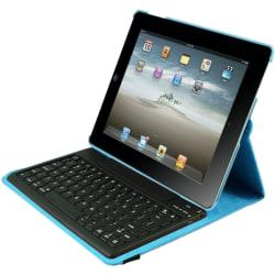 iPad Case Detachable Bluetooth Keyboard for iPad 2-4 - Blue Via Ergoguys
