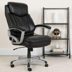 Flash Furniture HERCULES Big Tall Leather High-Back Swivel Office Chair, Black