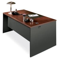 HON(R) 38000 Modular 60in.W Desk Shell, Mahogany/Charcoal