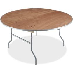Iceberg Natural Plywood Round Folding Table - Round Top - Folding Base - 0.75in. Table Top Thickness x 60in. Table Top Diameter - 29in. Height - Natural