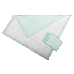 Protection Plus Polymer-Filled Underpads, 30in. x 36in., Green, 5 Underpads Per Bag, Case Of 15 Bags