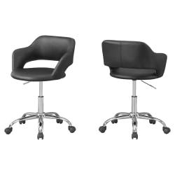 Monarch Specialties Office Chair, Black/Chrome