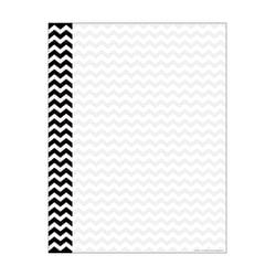 Barker Creek Computer Paper, 8 1/2in. x 11in., Black Chevron, Pack Of 50 Sheets
