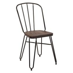 Office Star(TM) Charleston Folding Chairs, Black, Set Of 2 Chairs
