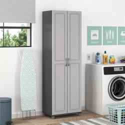 Ameriwood(TM) Home Kendall 24in. Utility Storage Cabinet, 5 Shelves, Gray