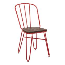 Office Star(TM) Charleston Folding Chairs, Red, Set Of 2 Chairs