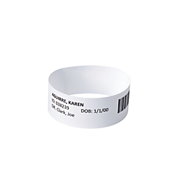 """Avery(R) EasyBand(TM) Medical Wristbands With Chart Labels, 10in. x 7/8in. Bands, 2 1/2"""" x 31/32"""" Labels, White, Pack Of 500 Bands And 10,000 Labels"""
