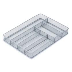 Honey-Can-Do Steel Mesh Cutlery Tray, 2in.H x 11 1/4in.W x 16in.D, Gray/Silver