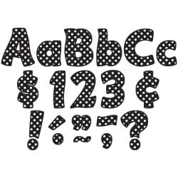 Teacher Created Resources Funtastic Font Polka Dot Letters And Numbers, 4in., Black, Pre-K - Grade 8, Pack Of 208