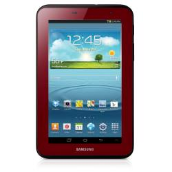 Samsung Galaxy Tab (R) 2 Wi-Fi Tablet And Case Bundle, 7in. Screen, 8GB, Garnet Red