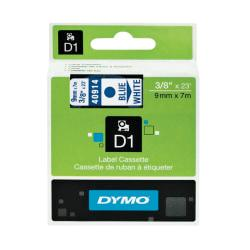 DYMO(R) D1 Electronic Label Maker Tape, 0.38in. x 23ft., Blue Print/White Label