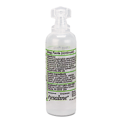 Eyesaline solution delivery Easy open top User-controlled volume delivery Quality assured manufacturing 1 OZ. EYEWASH STERILE BOTTLED PERSONAL EYEWASH is one of many Nursing Supplies available through Office Depot. Made by Sperian.