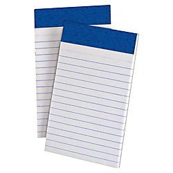 TOPS Perforated Medium Weight Writing Pads - 50 Sheets - 15 lb Basis Weight - 3in. x 5in. - White Paper - Chipboard Backing, Sturdy Back, Micro Perforated, Easy