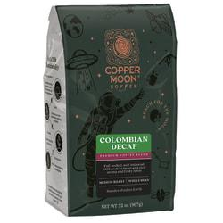 Copper Moon Coffee Whole Bean Coffee, Colombian Decaf, 2 Lb Per Bag, Case Of 4 Bags