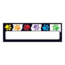 TREND Desk Toppers(R) Name Plates, 2 7/8in. x 9 1/2in., Paw Prints, 36 Name Plates Per Pack, Bundle Of 12 Packs