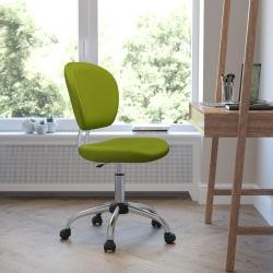 Flash Furniture Mesh Mid-Back Swivel Task Chair, Apple Green/Silver