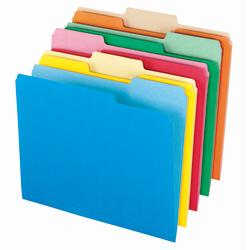 Office Depot(R) Brand Interior File Folders, 8 1/2in. x 11in., Letter Size, Assorted, Box Of 100 Folders