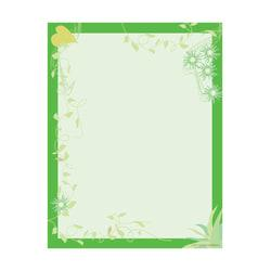 Barker Creek Computer Paper, 8 1/2in. x 11in., Go Green, Pack Of 50 Sheets